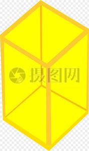黄色立方体图片