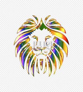 金色的狮子头图片