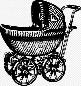 黑色婴儿车图片