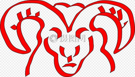 红色的公羊图片