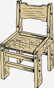 浅色木椅子图片
