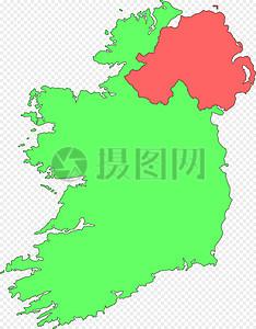 北爱尔兰地图图片