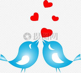 蓝色爱情鸟图片