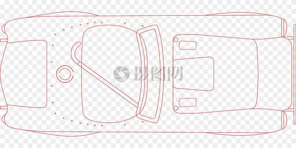 小车单色绘图图片