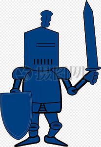 骑士, 盾构, 剑,图片