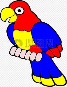 鹦鹉, 鸟, 热带, 异国情调, 红色, 黄色, 蓝色 , 免费矢量图,  免费插画,  免费图片图片