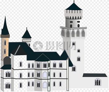 欧式城堡建筑图片