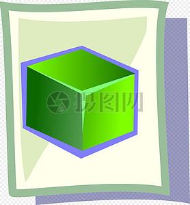 绿色的立方体图片