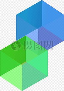 水晶透视立方体图片