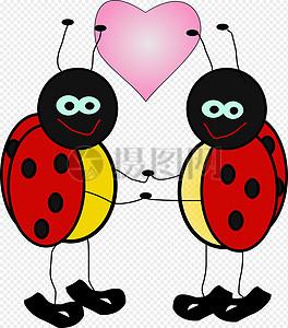 恩爱的昆虫图片