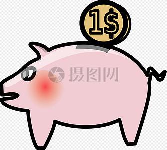 小猪储蓄罐图片