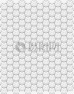 密集的六边形图片