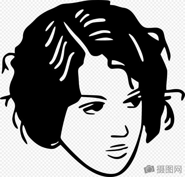 短头发的女子图片素材_免费下载_svg图片格式_高清_摄