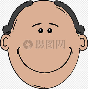 有点秃顶的男子图片