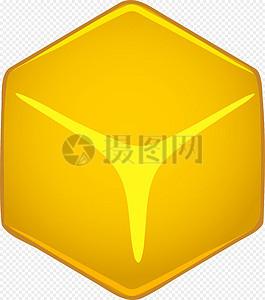 立方体黄色图标图片