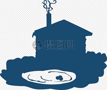 碉堡, 房子, 池,图片
