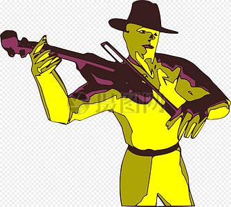 小提琴演奏家图片