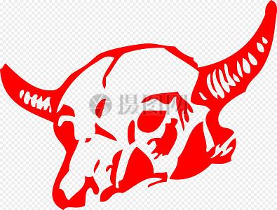 公牛头骨图片