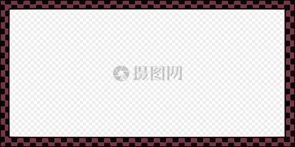 深红色格子边框图片