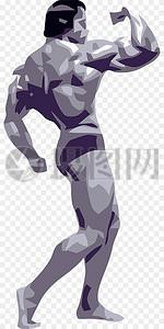肌肉发达健美男人图片