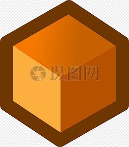 立方体橙色图片