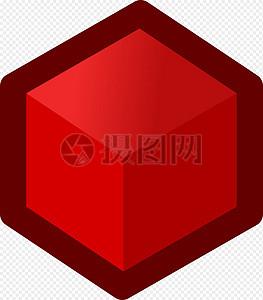 立方体红色图片