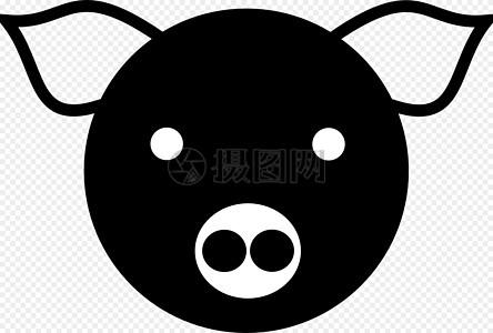 黑漆漆的猪头高清图片