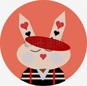 可爱的卡通兔子高清图片