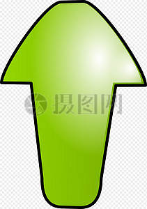 绿色卡通箭头图片