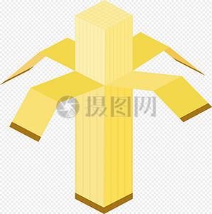 立方体抽象香蕉图片