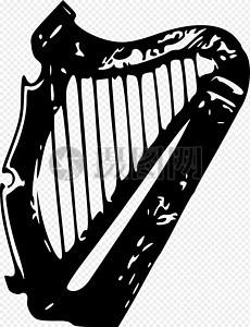 管弦乐器竖琴图片