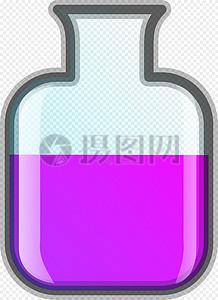 透明玻璃瓶里的粉色液体图片