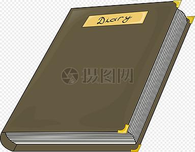 棕色日记本图片