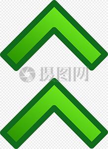 绿色向上箭头图片