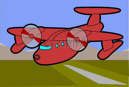 红色模型飞机图片