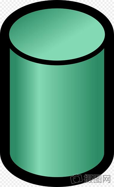 绿色圆柱体图片
