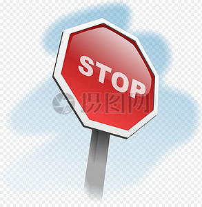 停车标志图片