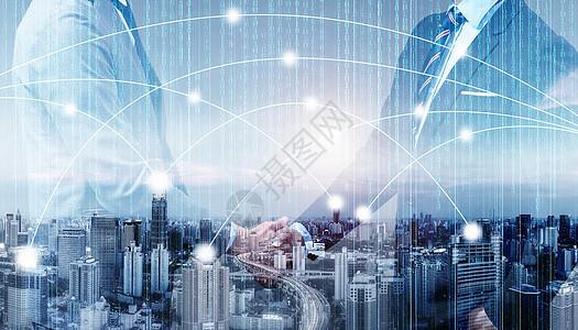 商务金融合作强强联合图片