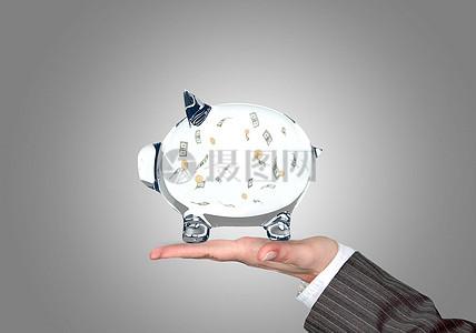 存钱的储蓄猪罐图片