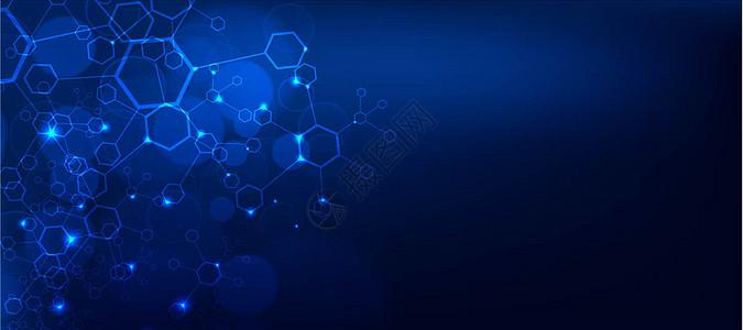 蓝色商务企业科技感背景图片