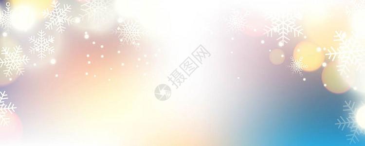 国外炫彩 几何 科技唯美圣诞海报背景