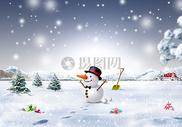 冬天下雪圣诞节海报背景图片