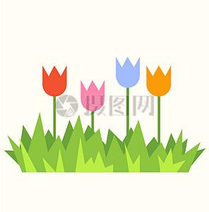 高清卡通活泼可爱的春天风景素材下载图片