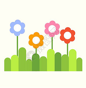 高清 卡通 活泼 可爱的春天 风景 素材 下载图片