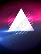 国外炫彩几何科技派对海报背景图片