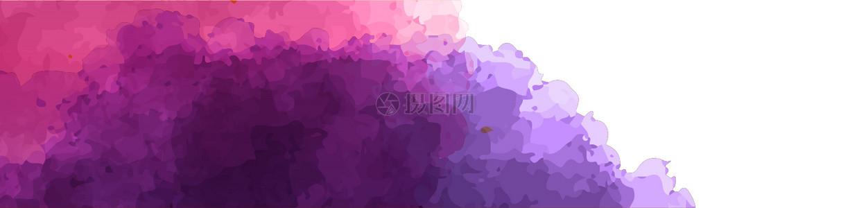 多彩矢量水彩墨迹背景图片