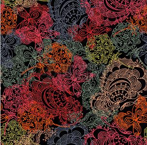 国外炫彩几何科技唯美花朵背景图片