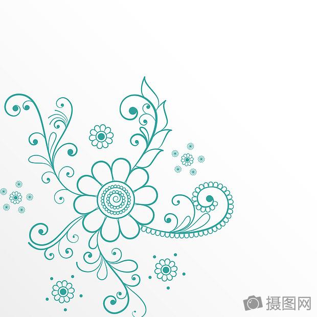 国外炫彩几何科技唯美欧式花边背景素材