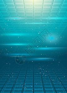国外科技方格透视菱形背景图片