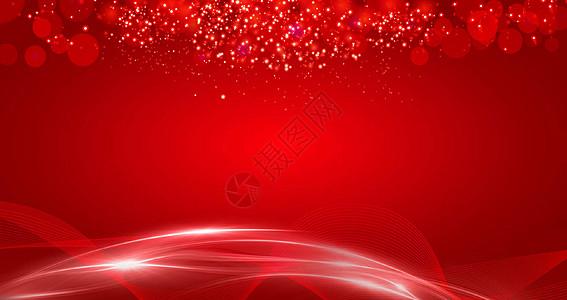 红色商务企业展板背景图片